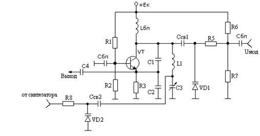Схема ГУН с частотным
