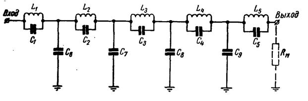 Приведенная схема фильтра